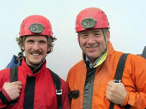 Tim and Terry - These boys have spent more time in caves than Batman!